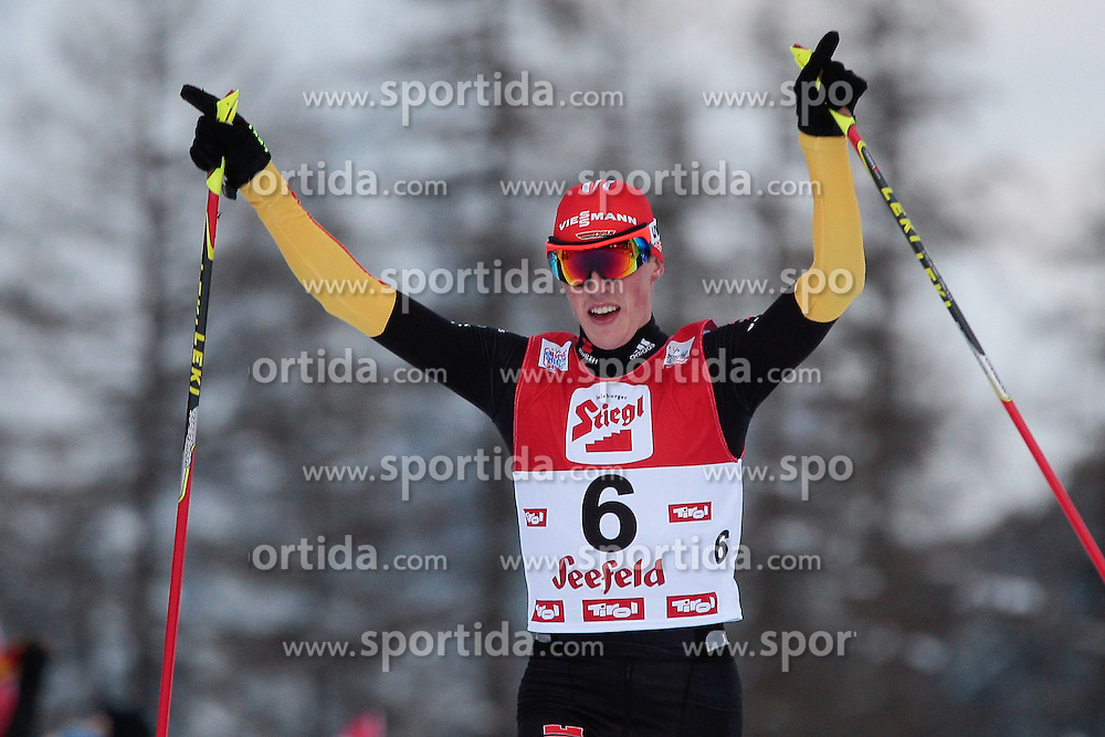 19.01.2013, Casino Arena, Seefeld, AUT, FIS Nordische Kombination, Gundersen, Langlauf, im Bild Frenzel Eric GER during Cross Country of FIS Nordic Combined World Cup in Sefeld, Austria on 2013/01/19. EXPA Pictures © 2013, PhotoCredit: EXPA/ Federico Modica