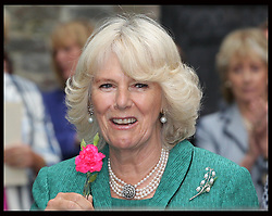 Duchess of Cornwall during a visit to Brecon Cathedral in Wales, Tuesday 10th July 2012.  Photo by: Stephen Lock / i-Images