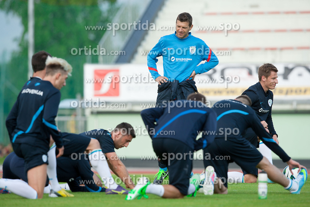 Assistant coach Zeljko Milinovic during practice session of Slovenian National football team at training camp on May 28, 2013 in Sports park Kranj, Slovenia. (Photo By Vid Ponikvar / Sportida)