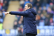 Sam Ricketts, manager of Shrewsbury Town during the The FA Cup 3rd round match between Shrewsbury Town and Stoke City at Greenhous Meadow, Shrewsbury, England on 5 January 2019.