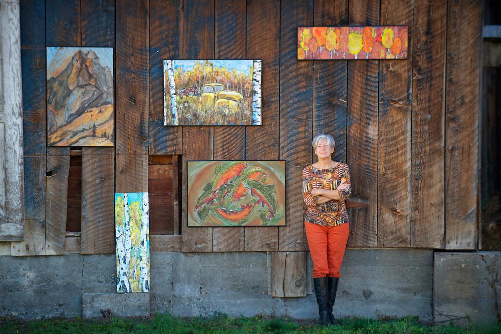 Ginger Reddington - Methow Arts Alliance Winter cover 2013-14