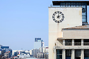 Bucharest, Romania Clock on the side of a building