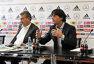 Former German Football Association president Wolfgang Niersbach (pictured left with Germany manager Joachim Low) is facing a two-year ban from all football-related activity.<br /> The independent ethics committee of world governing body Fifa recommended Niersbach be punished for a breach of its ethics code.<br /> In November, the 66-year-old resigned from his role as German FA president over bribery allegations.<br /> Picture by EXPA Pictures/Focus Images Ltd 07814482222<br /> 20/05/2016<br /> ***UK &amp; IRELAND ONLY***<br /> EXPA-EIB-131018-0016.jpg