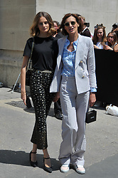 Ines de La Fressange and her daughter Violette D'Urso arriving at the Chanel show during Paris Fashion Week Haute Couture Collection Fall/Winter 2017-2018 in Paris, France on July 3, 2017. Photo by Robin Psaila /ABACAPRESS.COM