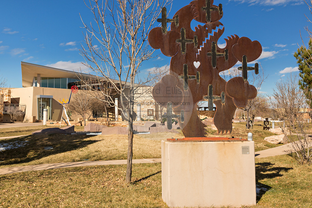 Exterior of the Albuquerque Museum and sculpture garden in Albuquerque, New Mexico.