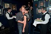 GARY COCKERILL; JORDAN, Tatler Little Black book party. Tramps. 3 November 2010. -DO NOT ARCHIVE-© Copyright Photograph by Dafydd Jones. 248 Clapham Rd. London SW9 0PZ. Tel 0207 820 0771. www.dafjones.com.