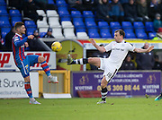 Dundee's Paul McGowan and Inverness' Iain Vigurs - Inverness Caledonian Thistle v Dundee in the Ladbrokes Scottish Premiership at Caledonian Stadium, Inverness.Photo: David Young<br /> <br />  - © David Young - www.davidyoungphoto.co.uk - email: davidyoungphoto@gmail.com