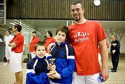 Jasa and Matic Bencic and Denis Bencic of Biser Piran of PK Ilirija at Winter National Swimming championships of Slovenia for U11, on February 7, 2010 in Bazen Tivoli, Ljubljana, Slovenija. (Photo by Vid Ponikvar / Sportida)