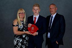 NEWPORT, WALES - Saturday, May 19, 2018: Josh Thomas and family during the Football Association of Wales Under-16's Caps Presentation at the Celtic Manor Resort. (Pic by David Rawcliffe/Propaganda)