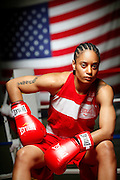 6/24/11 2:40:59 PM -- Colorado Springs, CO. -- A portrait of U.S. Olympic lightweight boxer Queen Underwood, 27, of Seattle, Wash. who will be competing for her fifth title. She began boxing in 2003 and was the 2009 Continental Champion and the 2010 USA Boxing National Champion. She is considered a likely favorite to medal at the 2012 Summer Olympics in London as women's boxing makes its debut as an Olympic sport. -- ...Photo by Marc Piscotty, Freelance.