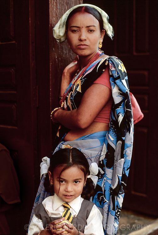 Pokhara woman and her daughter.