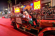 Mickey Mouse waves with people along Hollywood Boulevard during the 85th Annual Hollywood Christmas Parade in Los Angeles on Sunday December 27, 2016. (Photo by Ringo Chiu/PHOTOFORMULA.com)<br /> <br /> Usage Notes: This content is intended for editorial use only. For other uses, additional clearances may be required.