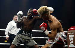 Nathanael Wilson (left) against Jonny Phillips in the Welterweight bout at the Wembley SSE Arena, London. PRESS ASSOCIATION Photo. Picture date: Saturday October 14, 2017. See PA story BOXING London. Photo credit should read: Scott Heavey/PA Wire
