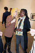 PAM HOGG; ZOE BEDEAUX, David Salle private view at the Maureen Paley Gallery. 21 Herlad St. London. E2. <br /> <br />  , -DO NOT ARCHIVE-&copy; Copyright Photograph by Dafydd Jones. 248 Clapham Rd. London SW9 0PZ. Tel 0207 820 0771. www.dafjones.com.