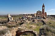 Spanje, Belchite, 11-2-2005Het stadje Belchite werd op 21 juli 1937 in de Spaanse burgeroorlog verwoest door de troepen van Franco. Het is als monument bewaard gebleven. Oorlog, dictator, dictatuurFoto: Flip Franssen/Hollandse Hoogte