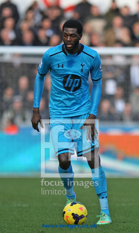 Picture by Mark Hawkins/Focus Images Ltd 07949 023795<br /> 19/01/2014<br /> Emmanuel Adebayor of Tottenham Hotspur during the Barclays Premier League match against Swansea City at the Liberty Stadium, Swansea.
