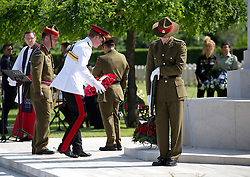 Prince Harry at the New Zealand Commemoration at the Cassino Commonwealth War Cemetery in Italy as part of the 70th anniversary commemorations of the Battle of Monte Cassino, Sunday, 18th May 2014