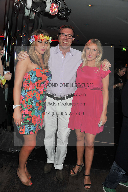 Left to right,  OLIVIA MORTON, ANDREW MORTON and ALI MORTON at a party to celebrate the opening of the Rum Shack, Floridita, 100 Wardour Street, London on 1st February 2013.