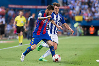 Deportivo Alaves's midfielder Ibai Gomez and FC Barcelona's forward Leo Messi during Copa del Rey (King's Cup) Final between Deportivo Alaves and FC Barcelona at Vicente Calderon Stadium in Madrid, May 27, 2017. Spain.<br /> (ALTERPHOTOS/BorjaB.Hojas)