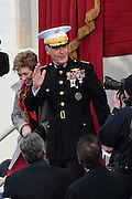 Chairmen of the Joint Chiefs Gen. Joseph Dunford and his wife Ellyn Dunford arrive for the Inauguration of President-elect Donald Trump as the 45th President on Capitol Hill January 20, 2017 in Washington, DC.