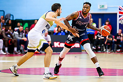 Panos Mayindombe of Bristol Flyers - Rogan/JMP - 05/10/2019 - BASKETBALL - SGS Wise Arena - Bristol, England - Bristol Flyers v Worcester Wolves - BBL Cup.