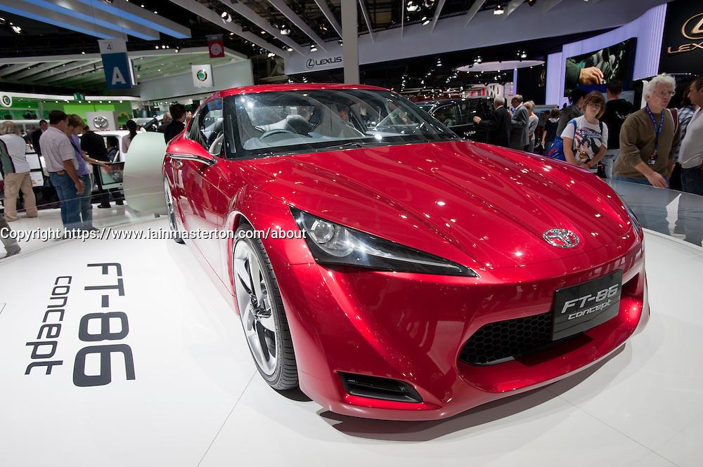 Toyota FT-86 concept car at Paris Motor Show 2010