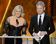 Glenn Close and Kenneth Branagh present Female Actor in a TV Movie or Miniseries. The 18th Annual Screen Actors Guild Awards were held at the Shrine Exposition Center in Los Angeles, CA 1/29/2012(John McCoy/Staff Photographer)