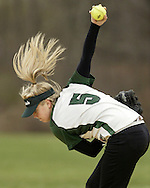 Minisink Valley pitcher Cassie Duffy winds up during a game against Port Jervis in Port Jervis on Tuesday, April 14, 2009.