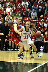 20 March 2010: Miranda DeKuiper turns the corner and heads for the paint. The Flying Dutch of Hope College fall to the Bears of Washington University 65-59 in the Championship Game of the Division 3 Women's NCAA Basketball Championship the at the Shirk Center at Illinois Wesleyan in Bloomington Illinois.