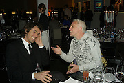 GEORGE LAMB AND MAROUD MAZOUZ, Wallpaper Design Awards. Old Post Sorting Office. New Oxford St. London. 9 January 2008. -DO NOT ARCHIVE-© Copyright Photograph by Dafydd Jones. 248 Clapham Rd. London SW9 0PZ. Tel 0207 820 0771. www.dafjones.com.