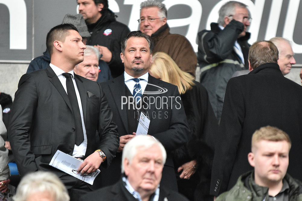 Owner Dean Holdsworth during the Sky Bet Championship match between Bolton Wanderers and Reading at the Macron Stadium, Bolton, England on 2 April 2016. Photo by Mark Pollitt.