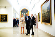 King Willem-Alexander and Queen Maxima of The Netherlands visit the National Museum in Poznan, Poland, 25 June 2014. The king and queen are in Poland for their first state visit 24 and 25 june. COPYRIGHT ROBIN UTRECHT