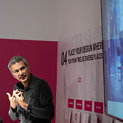 APRIL 20, 2018--MIAMI, FLORIDA<br /> Andre' Lepecki during his Lecture: In The Event of Encounter (or, The Improbable Living Together)  Miami Dade College's Freedom Tower in downtown Miami as part of the Living Together Series.<br /> (PHOTO BY ANGELVALENTIN/FREELANCE)