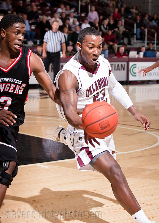 December 7, 2009: The Northwestern Oklahoma State University Rangers play against the Oklahoma Christian University Eagles at the Eagles Nest on the campus of Oklahoma Christian University.