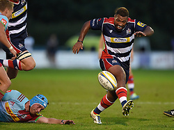 Jamal Ford-Robinson of Bristol United kicks the ball forward  - Mandatory by-line: Joe Meredith/JMP - 12/09/2016 - RUGBY - Clifton RFC - Bristol, England - Bristol United v Harlequins A - Aviva A League