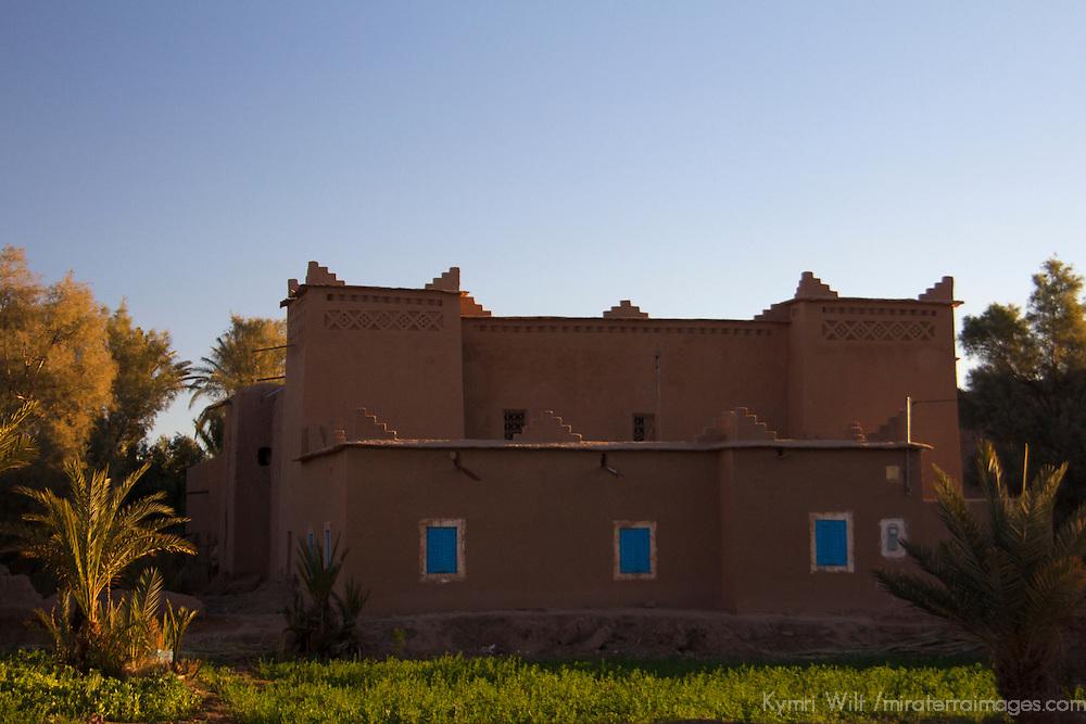 Africa, Morocco, Skoura. Traditional Moroccan kasbah in Skoura.