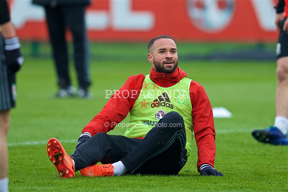 CARDIFF, WALES - Thursday, March 23, 2017: Wales' Ashley 'Jazz' Richards during a training session at the Vale Resort ahead of the 2018 FIFA World Cup Qualifying Group D match against Republic of Ireland. (Pic by David Rawcliffe/Propaganda)
