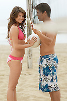 Couple Flirting on Beach