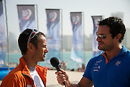 franck Cammas skipper of groupama yacht.volvo ocean race abu dhabi january 2012