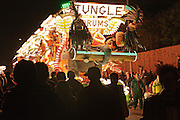 Gremlins Carnival Club's entry, Jungle Drums at eh 2011 Bridgwater Guy Fawkes Carnival. Bridgwater Carnival is an annual event to raise money for loval charities. It is widely reputed to be the largest illuminated carnival in the world.