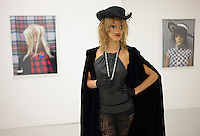 The Narcissister in character at her gallery opening at Envoy Enterprises on New York's Lower East Side...Photo © Robert Caplin