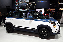 """12 February 2015:  2015 FIAT 500L: Big news for the 2015 Fiat 500L is the available six-speed automatic transmission, for a total of three tranny options. New paint colors include Blue Tornado and Rosso Red (Deep Lava Red), which brings the total to 11 exterior color choices.  Designed on the """"small-wide"""" architecture, the 500L provides 26 inches more in length, plus six-inches more height and width. Visually, the 500L is wrapped in contemporary Italian design, with unique front and rear fascia designs, rugged-looking flared wheel arches and larger 17-inch wheels. The '15 Fiat 500L expands the Cinquecento's appeal by offering more than 42 percent more interior space with spacious seating for five. There are engaging driving dynamics - tight handling and quick steering, a 1.4-liter MultiAir Turbo engine with a best-in-class 160 horsepower to the front-wheel drive, and two six-speed transmission offerings. Buyers have a choice of trim levels, including the 500L Pop, Easy, Trekking and Lounge models. A trendsetting cabin environment features an all-new Uconnect 5.0 system with a 5-inch intelligently and intuitively designed touchscreen interface, handsfree calling and Bluetooth-streaming audio, as well as voice-command control of the radio and a media hub for seamless integration of portable devices. Occupants will enjoy the nearly 360-degree panoramic views provided by the exclusive glass A- to D-pillars and large (20.7 sq. ft.) dual-pane sunroof. For shopping or traveling, you can load up the 23.1 cu. ft. of room in the luggage compartment. Historical Fact: Since the modern Fiat 500's global launch in 2007, more than one-million of these efficient and city-friendly vehicles have been sold in more than 110 countries worldwide.<br /> <br /> First staged in 1901, the Chicago Auto Show is the largest auto show in North America and has been held more times than any other auto exposition on the continent. The 2015 show marks the 107th edition of the Chicago Auto Show. It h"""