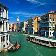 Vaporetto Water Bus  The Grand Canal Venice Italy
