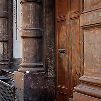 Old Soho Steel Building entrance New York City