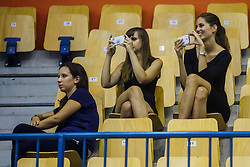Spectators during qualifying match between Slovenia and Ukraine for European basketball championship 2017,  Arena Zlatorog, Celje on 7th of September 2016, Slovenia. Photo by Grega Valancic / Sportida