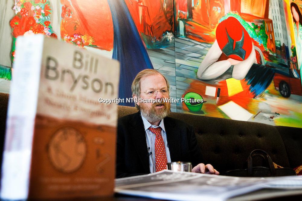 Oslo  20100906.<br /> Den amerikanske forfatteren Bill Bryson i Norge, - her p&Acirc; Gabelshus i Oslo.  /William  McGuire Bryson/  <br /> Foto: Berit Roald / Scanpix<br /> <br /> NTB Scanpix/Writer Pictures<br /> <br /> WORLD RIGHTS, DIRECT SALES ONLY, NO AGENCY