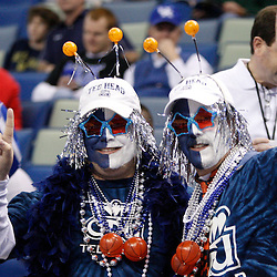 Mar 18, 2010; New Orleans, LA, USA; Old Dominion Monarchs fans cheer from the stands prior to tip off against the Notre Dame Fighting Irish in the first round of the 2010 NCAA mens basketball tournament at New Orleans Arena.  Mandatory Credit: Derick E. Hingle-US PRESSWIRE.