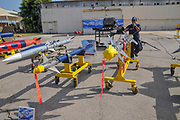 A display of Air to Air and Air to ground guided missiles used by the Israeli Air Force