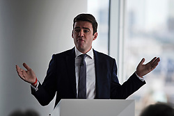 © London News Pictures. 29/05/2015. ANDY BURNHAM MP, Labour leadership candidate, delivers a speech on the economy in central London. Andy Burnham is one the favourites to take over as Labour Party leader following the resignation of Ed Miliband after a heavy general election defeat. Photo credit: Ben Cawthra/LNP