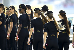 November 26, 2017 - Abu Dhabi, United Arab Emirates - Motorsports: FIA Formula One World Championship 2017, Grand Prix of Abu Dhabi, .grid girls  (Credit Image: © Hoch Zwei via ZUMA Wire)
